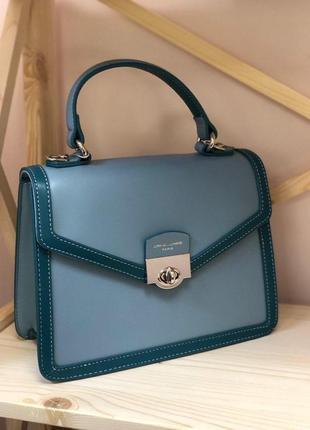 Небольшая сумка сумочка клатч кроссбоди david jones голубая синяя