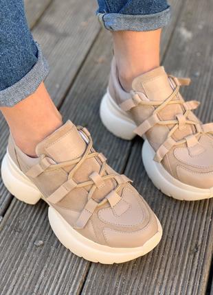 Трендовые кожаные кроссовки vanessa