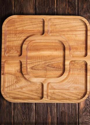 Деревянный поднос - доска для подачи блюд