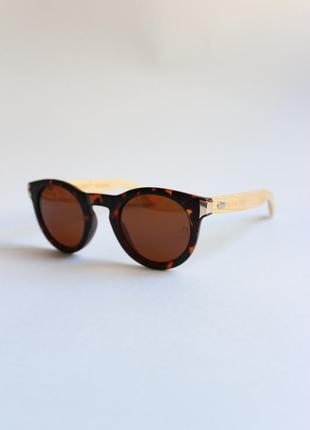 Женские солнцезащитные очки кошечки лисички/ жіночі сонцезахисні окуляри круглые