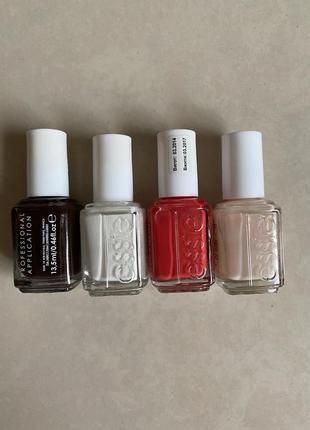 Лак для ногтей, оригинал, essie( набор 4 шт)