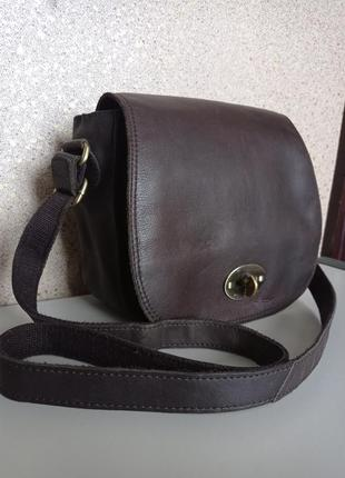 Rowallan крутейшая мужская кожаная сумка на длинном ремне. англия, натуральная кожа