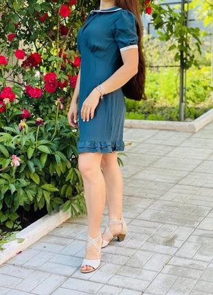 Платье изумрудного цвета от asos
