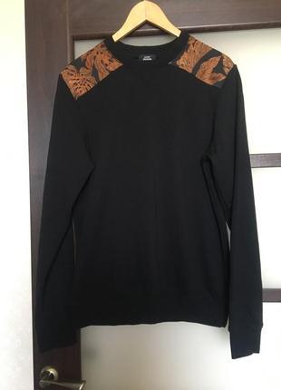 Чёрный свитшот кофта худи пуловер
