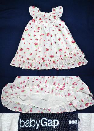 Батистовое платье на подъюбнике от gap р.92