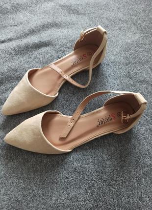 Стильные балетки с ремешком2 фото