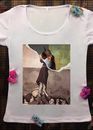 Женские футболки с принтом - картины