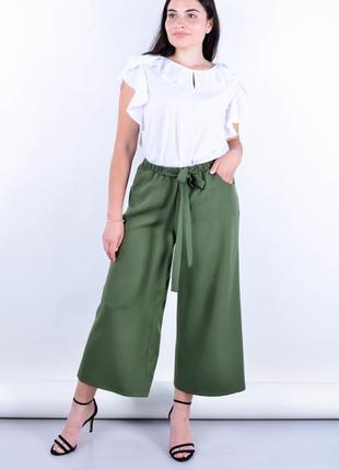 Офисные брюки плюс сайз, брюки батал, жіночі штани великого розміру