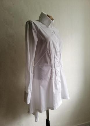 Хлопковая, длинная рубашка european culture, италия, размер xs, s,m