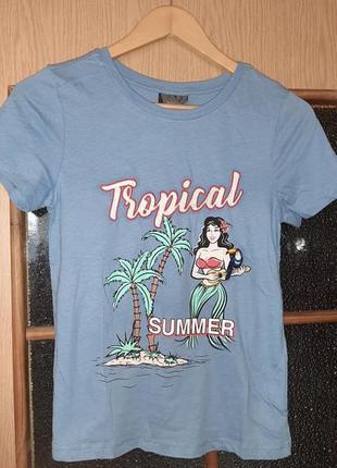Яркая женская хлопковая футболка от c&a yessica, размер xs-s4 фото
