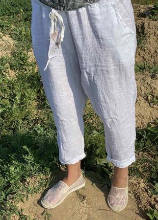 Льняные брюки италия