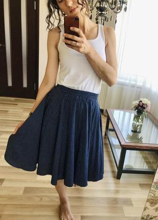 Красивая юбка в горох.