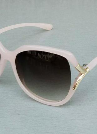Tom ford очки женские солнцезащитные большие розово коричневые с градиентом