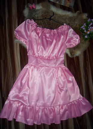 Нарядное платье крестьянка, для модницы.
