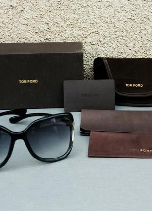 Tom ford очки женские солнцезащитные большие черные с градиентом