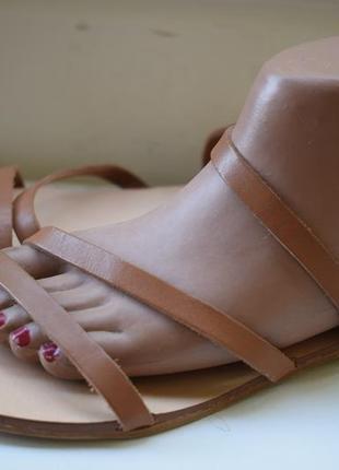 Итальянские кожаные босоножки сандали сандалии mint & berry р.40 26,3 см