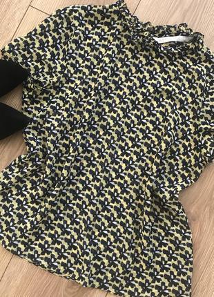 Летняя шифоновая блуза с коротким рукавом