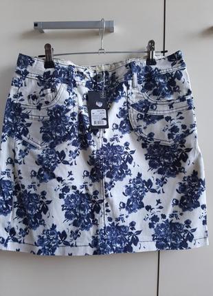 Коттоновая юбка в цветах,  eur36 (s)