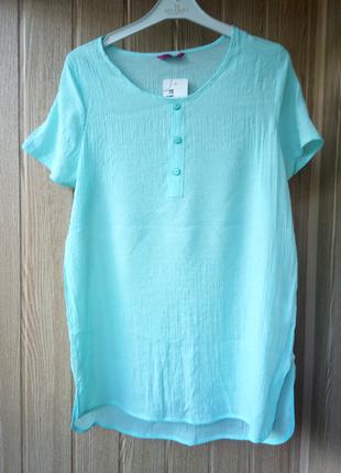 Невесомая ,летняя мятная  футболка рубашка