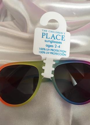 Очки солнцезащитные children's place 2-4 гола окуляри радуга авиаторы