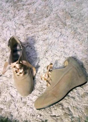 Демисезонные ботинки, натуральная замш