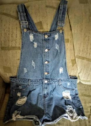 Стильный джинсовый комбез.