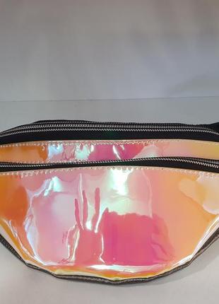 Неоновая,голографическая,сумочка бананка/belt bag/ сумка на пояс/ сумка через плечо/