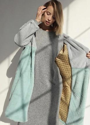Стильная шуба пальто из эко меха
