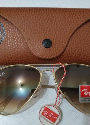 Ray-ban aviator авиаторы очки стекло