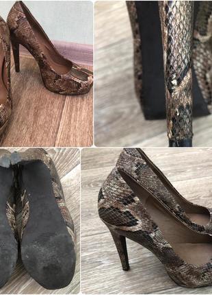 Туфли jessica simpson из тонкой кожи на высоком каблуке