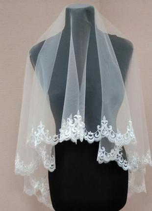 Фата свадебная, вышивка, вишивка, кружево