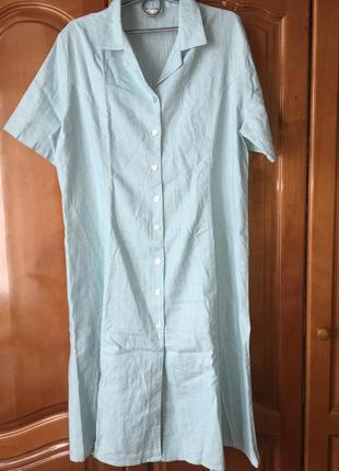 Платье - халат льняное