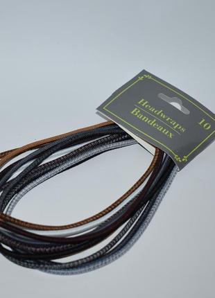Набор 10 разноцветных резинок для волос 10 headwraps ободки для волос оригинал сша