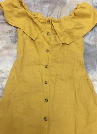 Pull&bear горчичное платье