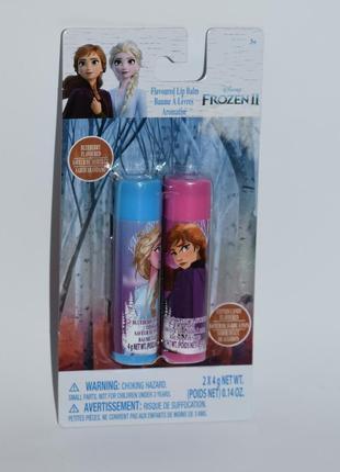 Набор 2 бальзама для губ героини холодное сердце disney frozen ii оригинал с