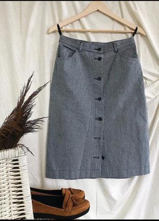 Винтажные юбка с пуговицами