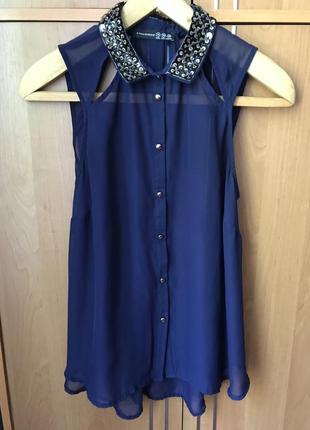 Шифоновая блуза вышита бисером