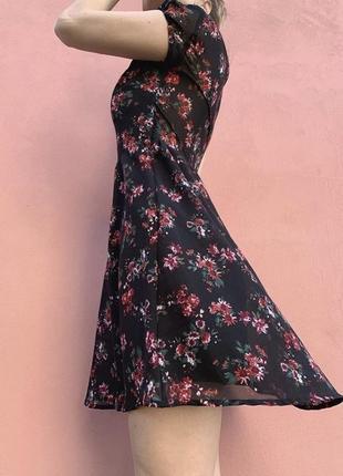 Летящее винтажное шифоновое платье