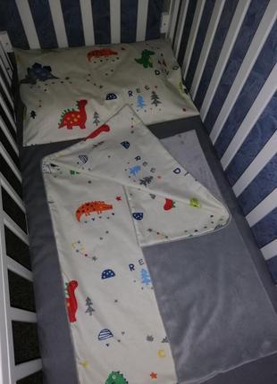 Комплект постельного белья для детей,плед - одеяло,наволочка,простыня на резинке