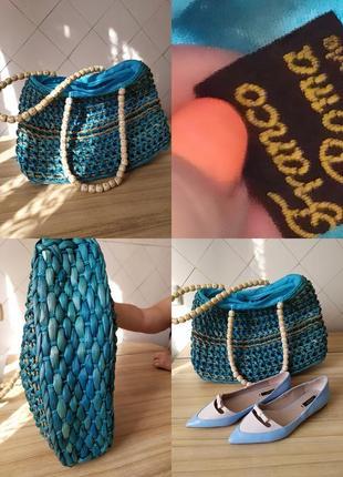 Италия.сумка летняя плетенная.