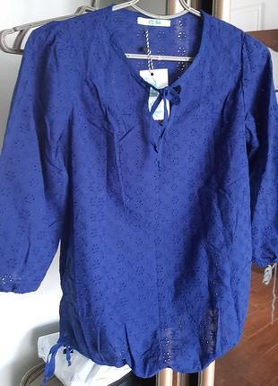 Блуза для беременных бренда to be, синяя, р.42, новая!