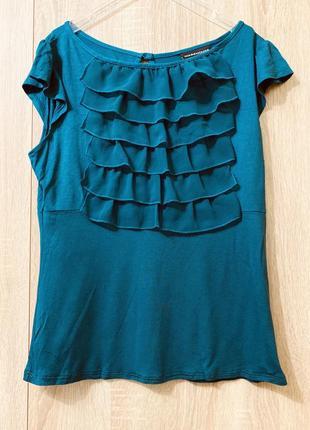 Идеальная блузка футболка с рюшками