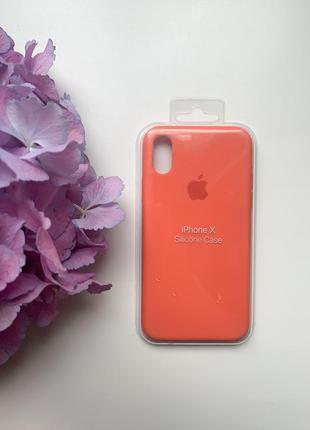 Чехол силиконовый для iphone x/xs silicone case оранжевого цвета