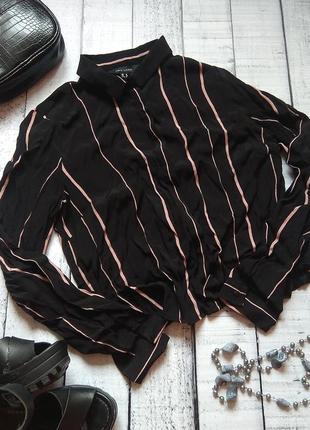 Вискозная полосатая рубашка