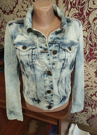 ❤️❤️❤️шикарная джинсовая куртка amisu 38 размер