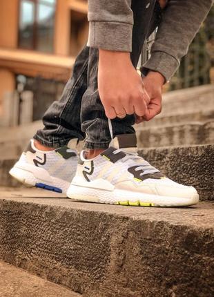 Adidas nite jogger white мужские кроссовки наложенный платёж купить кросівки