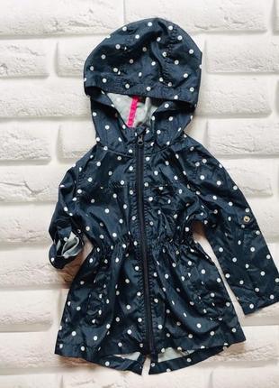 Young dimension стильная куртка-дождевик на девочку 2-3 года