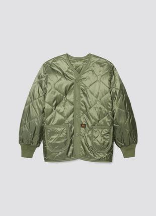 Куртка-подстежка als92/liner alpha industries (оригинал) цвета: хаки, черный