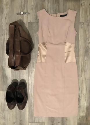 Платье деловое пудрового цвета на дюймовочку love republic