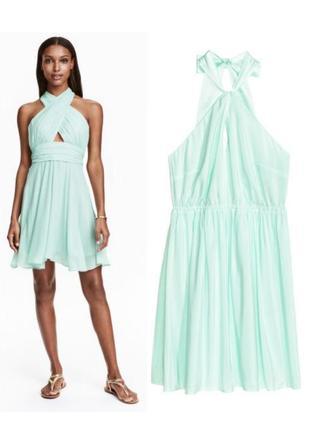 Платье мята,нарядное платье hm